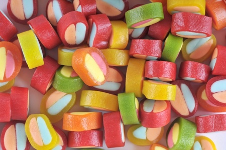 The color background - color jelly candy . photo
