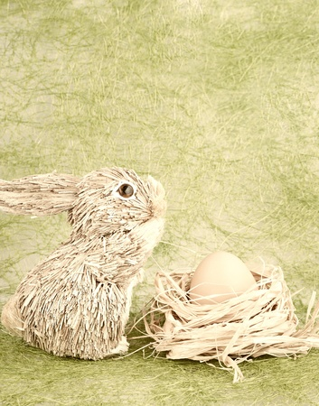 The rabbit and egg - vintage easter still life photo