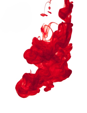 The abstraction red on a white background