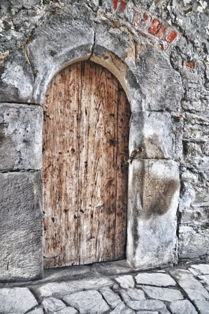 The door - castle Helfstyn in Czech republic photo