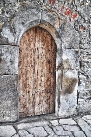 The door - castle Helfstyn in Czech republic photo