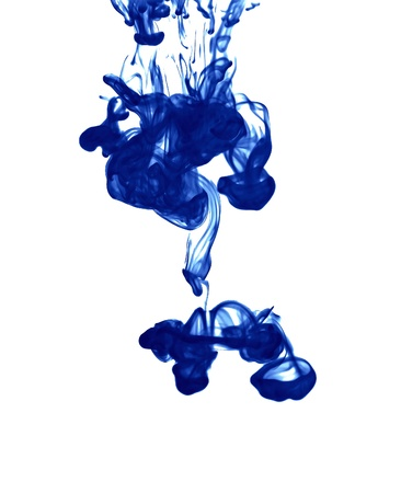 pigment: The blue pigment that falls into the water