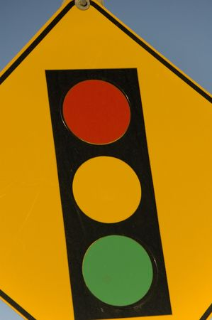 Stop sign coming up soon Stock Photo - 788359