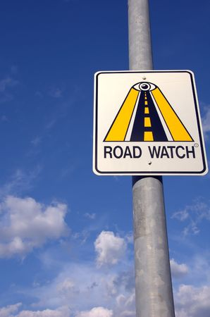 Road Watch Sign against the sky Stock Photo - 788478