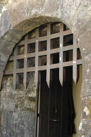 Castle wood gated entry in the Azores
