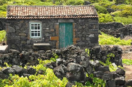 Old Azores home or cottage built of stone