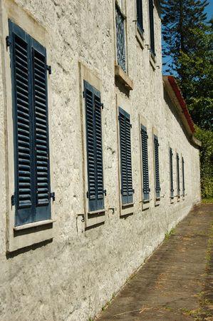 古いアゾレス諸島の茶工場の建物