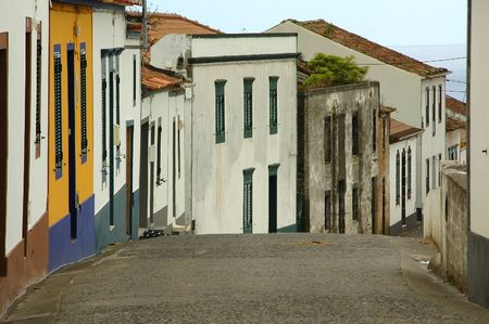 Old homes on an Island in an Azores village