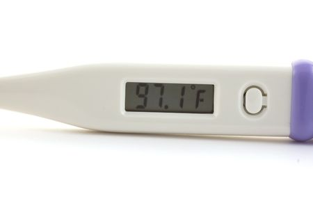 Electronic thermometer for use under the arm or under the tongue