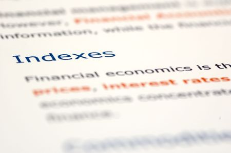 Macro shots of financial news and documentation focusing on key titles Stock Photo
