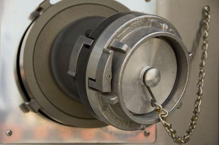 fire truck firehose valve photo