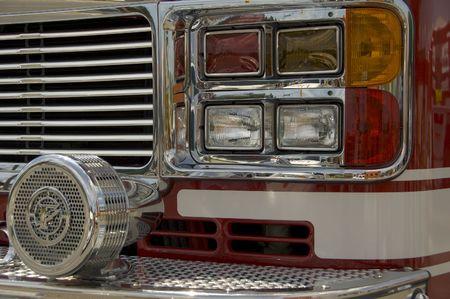 firetruck siren on a ladder truck photo