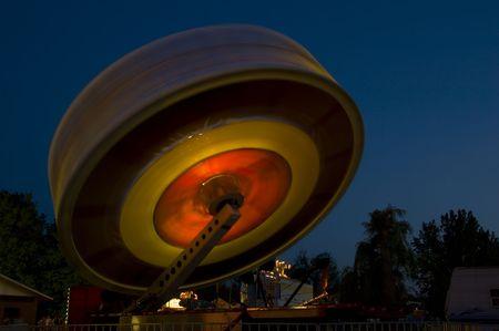 Carnival ride at night