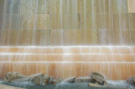 Water feature in a Toronto park Stock Photo
