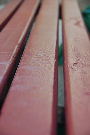 banc parc: Red Wood Park Bench