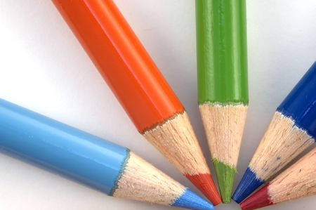 Stack of pencil crayons used for artwork Stock Photo - 856126