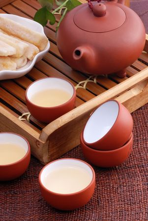Close-up of traditional Chinese tea Stock Photo - 8094261