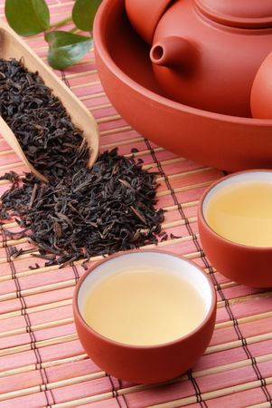 Chinese traditional herbal tea and herbs photo