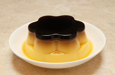 flan: Pudding flan egg food sweet