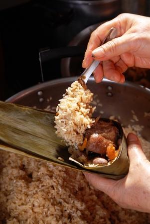 pyramidal: Makes the steamed rice dumpling