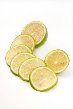 Some lemon on white background photo