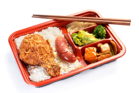 bento: Meal box on white background