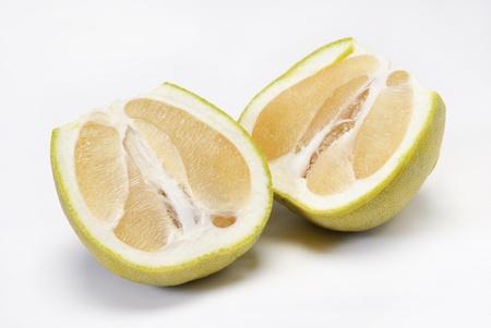 pummelo: Pomelo fruit on white background