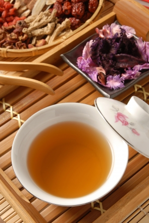 Chinese traditional herbal tea and herbs Stock Photo - 8551793