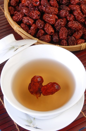 Chinese tradition medical Jujube tea   Stock Photo