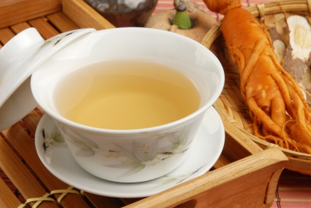 Chinese traditional ginseng tea and herbs