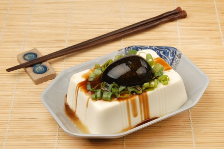 Chinese food- tofu with preserved eggs