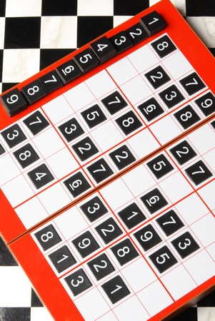 sudoku: Plastic sudoku board and tiles