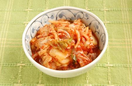 Korean kimchi  in a  bowl  photo