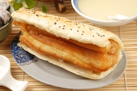 Chinese tradition food- clay oven rolls  and fried bread stick  photo