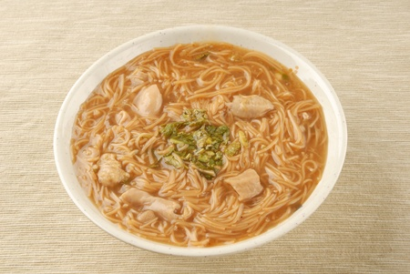 mian: Taiwan famous food - pork intestine thin noodles