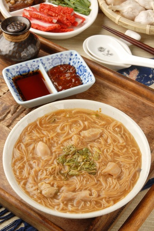 Taiwan famous food - pork intestine thin noodles