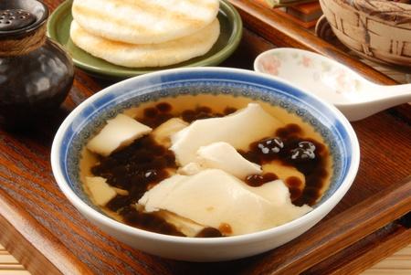 bean curd: Chinese dessert, Tofu pudding with tapioca ball