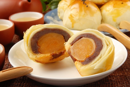 Taiwan delicious dessert - Egg yolk shortcake photo