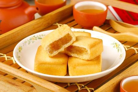 food stuff: pineapple cake Stock Photo