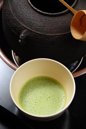 Japanese tea ceremony- green tea    photo