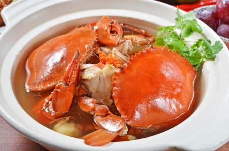 Chinese cuisine braised crab and chinese vermicelli photo