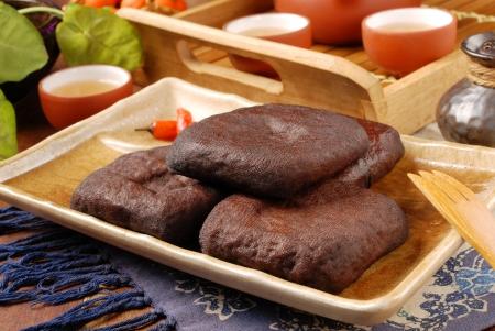 bean curd: Marinated dried tofu - A popular Taiwan food