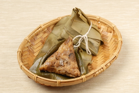 Chinese tradition food - steamed rice dumpling photo