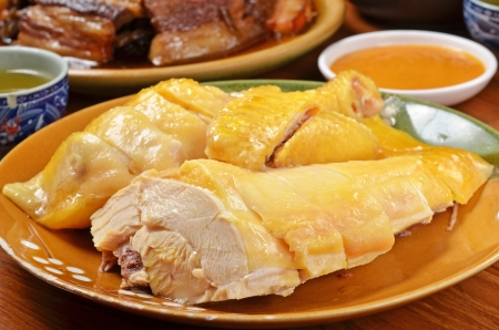 Chopped boiled chicken on the dining table Stock Photo - 15513465