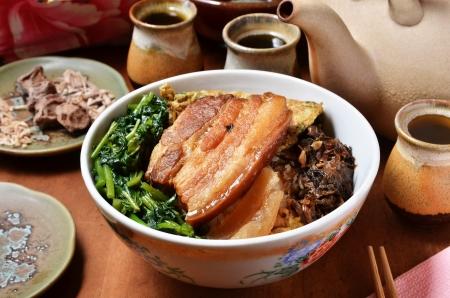 Taiwan s famous cuisine - stewed pork  and rice Reklamní fotografie - 16231681