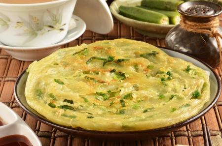 often: Green onion pancakes are a fried Chinese flatbread often eaten as a snack or with a meal
