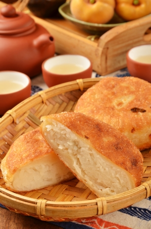 shreds: Taiwan delicious snack  - radish shreds pie Stock Photo