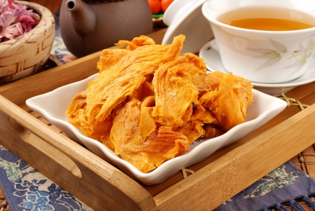 Dried Mango for tea break  Stock Photo