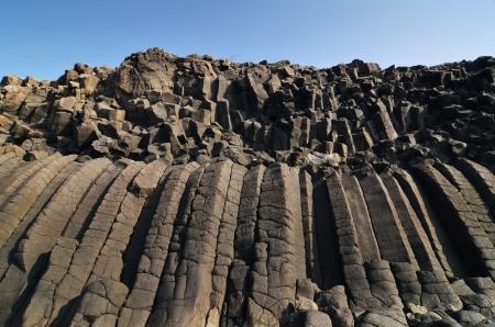 Large dark gray basalt beach in Penghu,Taiwan