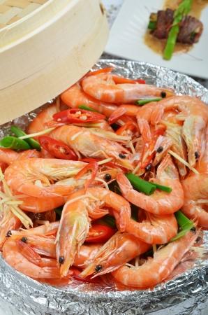 Steamed Shrimps photo